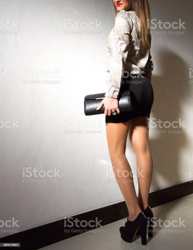 Minirock langes bein