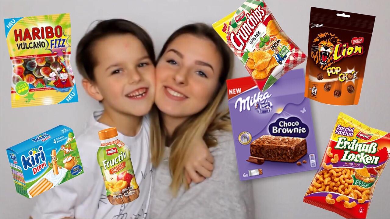 Süßigkeiten probieren den einen