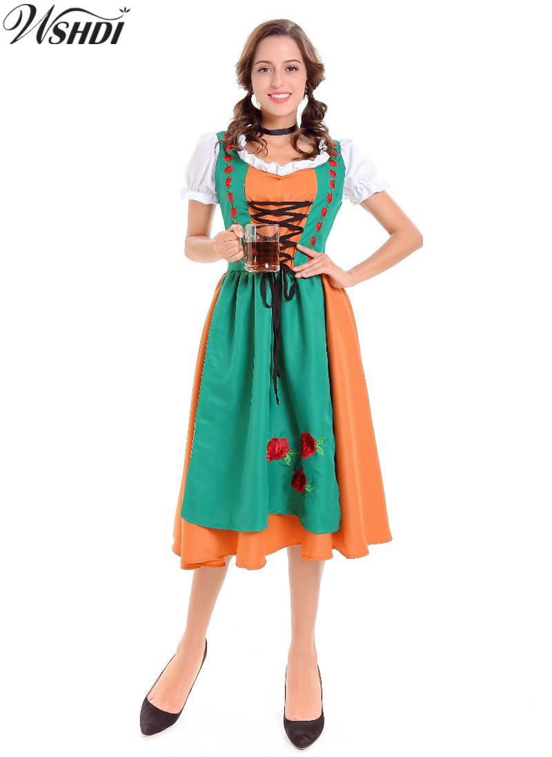 Erwachsenen oktoberfest mädchen kostüm kostüm ball